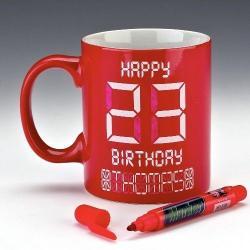 Cyfrowy kubek na urodziny idealne na prezent Na urodziny