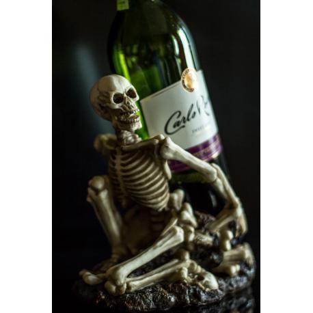 Stojak na wino - śmierć na prezent, Motywy gotyckie Ręcznie zdobione kieliszki do wina