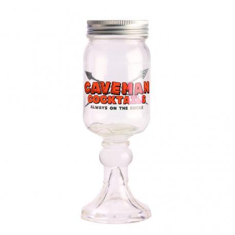 Słoik do drinków z nóżką - CAVEMAN COCKTAILS Mugs