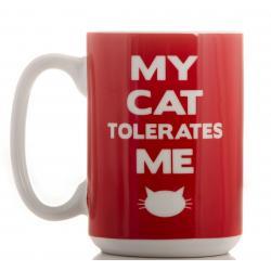 Hurtowa oferta Kubek - mój kot mnie toleruje - Kubki