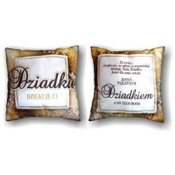 Poduszka dla dziadka - dziękuję Ci... idealne na prezent Dla seniora