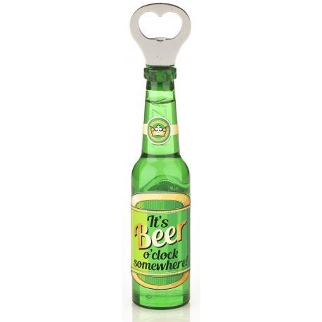 Otwieracz piwo z magnesem - Its Beer O'clock idealne na prezent Dla studenta Do kuchni