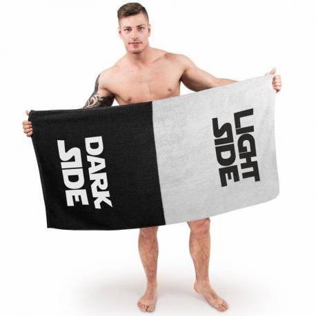 Ręcznik - DARK SIDE & LIGHT SIDE idealne na prezent Dla niego Do łazienki