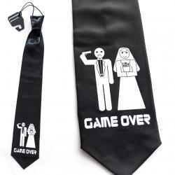 Krawat na wieczór kawalerski z rewolwerem Na wieczór kawalerski