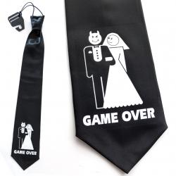 Krawat GAME OVER - diabelski