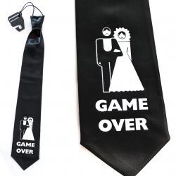 Hurtowa oferta Krawat GAME OVER - Na wieczór kawalerski