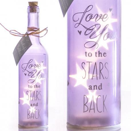 Świecąca butelka LED dla zakochanych idealne na prezent Dla niej Do pokoju