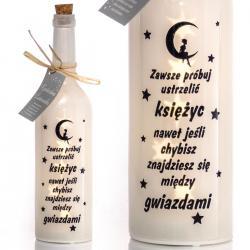 Świecąca butelka LED - ustrzelić księżyc idealne na prezent Na boże narodzenie