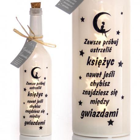 Świecąca butelka LED - ustrzelić księżyc idealne na prezent Na boże narodzenie Do pokoju