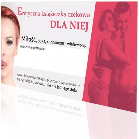 Hurtowa oferta Erotyczna książeczka czekowa - dla niej - Erotyczne