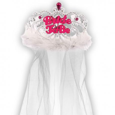 "Tiara z welonem \\""Bride to be\\"" na prezent, Przebrania i stylizacje Przebrania i stylizacje"