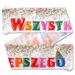Duży urodzinowy baner idealne na prezent Na urodziny
