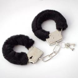 Kajdanki z puszkiem - czarne na prezent, Gadżety