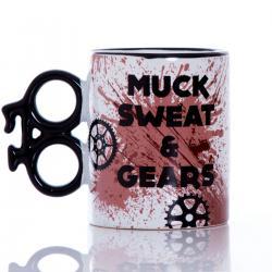 Kubek rowerzysty - Muck, Sweat & Gears idealne na prezent Dla niego