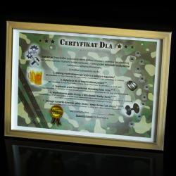 Certyfikat na Dzień Chłopaka w ramce idealne na prezent Dla niego