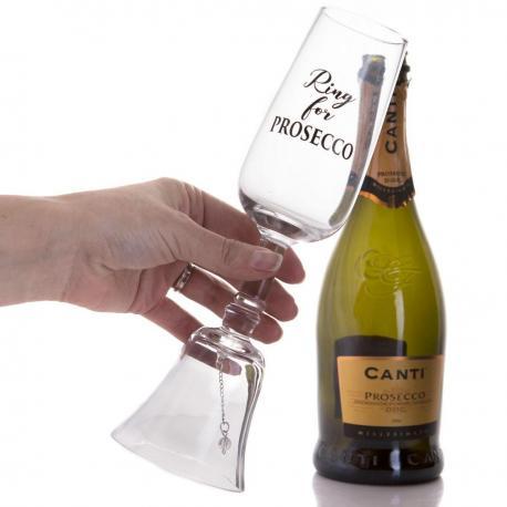 Hurtowa oferta Kieliszek z dzwoneczkiem Prosecco - Do wina, szampana i martini Ręcznie zdobione kieliszki do wina