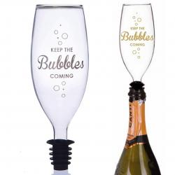 BUBBLES TOPPER Prosecco Glass