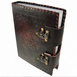 Księga oprawiona skórą - Small Book of Shadow, dziennik na prezent, Motywy gotyckie
