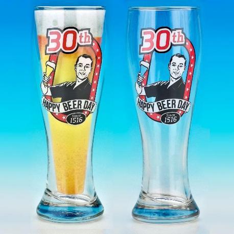 Kufel Pilsner na urodziny Beer Glass