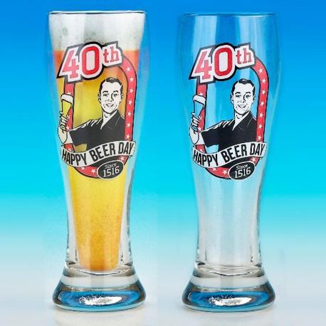 Hurtowa oferta Kufel Pilsner na 40 urodziny - Kufle do piwa Kufle do piwa