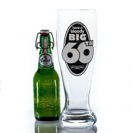 Hurtowa oferta Cholernie wielki kufel do piwa na 60 urodziny - Kufle do piwa