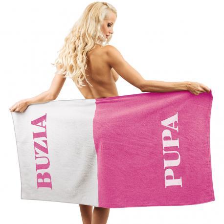 Ręcznik BUZIA PUPA dla niej idealne na prezent Dla niej Wyposażenie domu i mieszkania