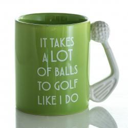 Kubek golfisty z jajami