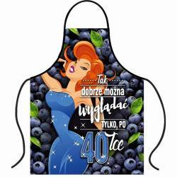 Apron for 40th birthday - blueberry