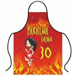 Hurtowa oferta Fartuszek piekielnie fajna 30tka - Fartuchy kuchenne