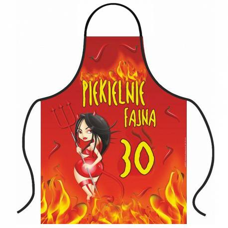 Hurtowa oferta Fartuszek piekielnie fajna 30tka - Fartuchy Fartuchy kuchenne