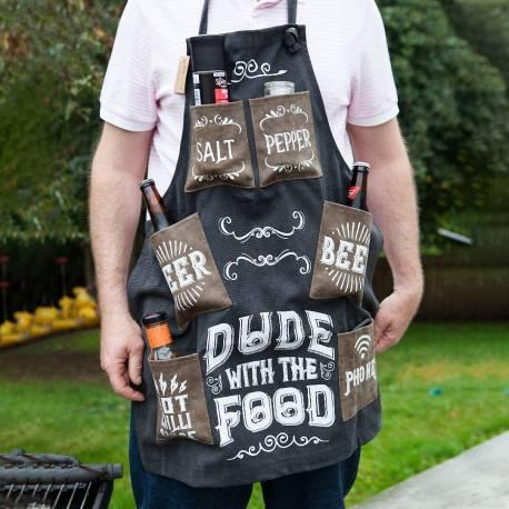 Hurtowa oferta Fartuszek grillującego faceta DUDE WITH FOOD - Fartuchy kuchenne