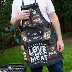 Hurtowa oferta Fartuszek grillowego mięsożercy LOVE MY MEAT -