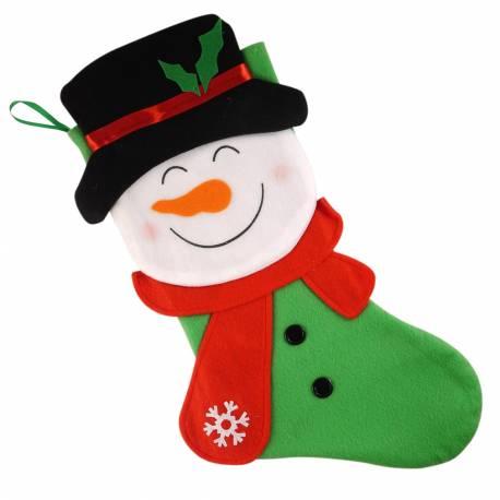 Dekoracyjna Świąteczna skarpetka Bałwan idealne na prezent Na boże narodzenie Przebrania i stylizacje