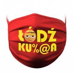 """Mask with """"Łódź Ku%@a"""" text"""