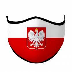 Mask in colors of polish flag
