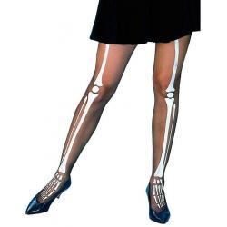 Rajstopy z wzorem kości szkieletu Na Halloween
