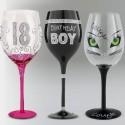 Wine, Champagne and Martini Glasses